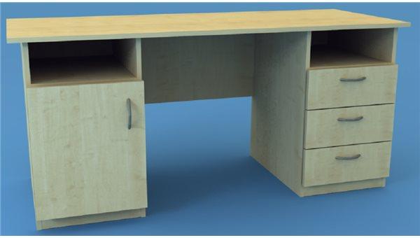 Стол тумбовый 2СТ/1R (правый)