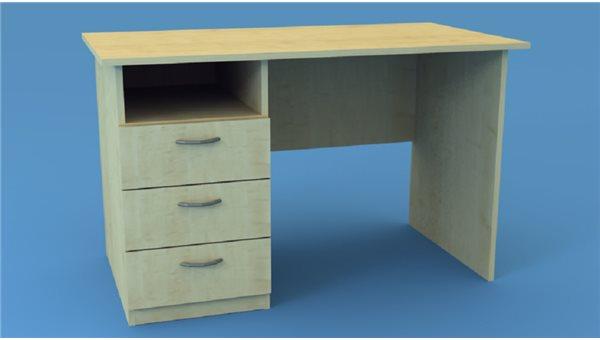 Стол тумбовый СТ120/3L (левый)
