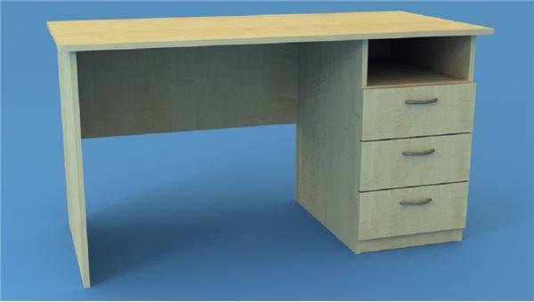 Стол тумбовый СТ135/3R (правый)