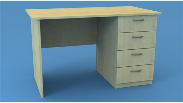 Стол тумбовый СТ120/4R (правый)