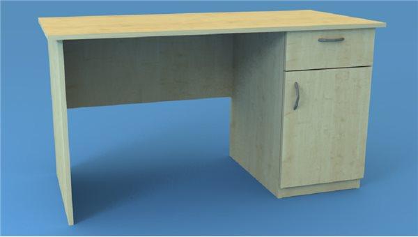 Стол тумбовый СТ135/1R (правый)