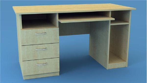 Стол тумбовый КС/2L (левый)
