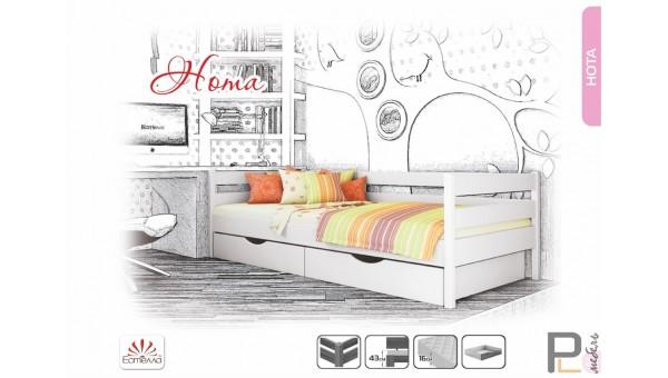 """Деревянная кровать """"Нота"""""""